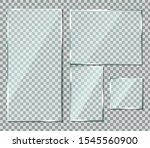 glass with reflection effect in ... | Shutterstock .eps vector #1545560900