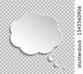 bubble of think on transparent... | Shutterstock .eps vector #1545560906