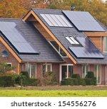 photovoltaic solar panels on... | Shutterstock . vector #154556276