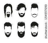 fashion silhouette hipster...   Shutterstock .eps vector #154557050