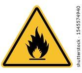 flammable materials warning...   Shutterstock .eps vector #1545574940