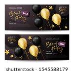 set of flyers black friday sale.... | Shutterstock .eps vector #1545588179