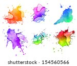 abstract hand drawn watercolor... | Shutterstock . vector #154560566