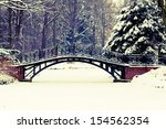 Winter Scene   Old Bridge In...