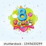 happy birthday kids... | Shutterstock .eps vector #1545633299