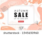 autumn sale vector banner. hand ... | Shutterstock .eps vector #1545650960