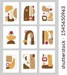 set of abstract vector... | Shutterstock .eps vector #1545650963