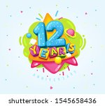 happy birthday kids... | Shutterstock .eps vector #1545658436