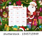 calendar vector template with... | Shutterstock .eps vector #1545715949