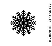 black snowflake icon isolated... | Shutterstock .eps vector #1545721616