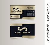 luxury business card and mockup | Shutterstock .eps vector #1545739736