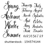 seasons  months  and numbers | Shutterstock .eps vector #154574144
