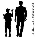 parents with little child on... | Shutterstock . vector #1545755663