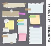 set of isolated paper stickers... | Shutterstock .eps vector #1545756413