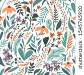 flower seamless pattern. vector ... | Shutterstock .eps vector #1545765920