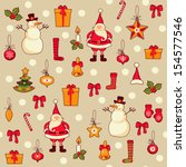 seamless pattern of christmas | Shutterstock .eps vector #154577546