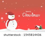 merry christmas and happy new... | Shutterstock .eps vector #1545814436
