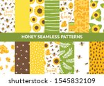 vector seamless pattern with... | Shutterstock .eps vector #1545832109