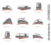 train set. vector  | Shutterstock .eps vector #154588103