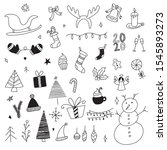 set of christmas design... | Shutterstock .eps vector #1545893273