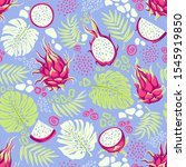 seamless pattern with tropical...   Shutterstock .eps vector #1545919850