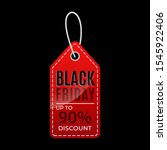 black friday tags. for shopping ... | Shutterstock .eps vector #1545922406