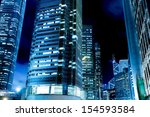 hong kong night  the city's... | Shutterstock . vector #154593584