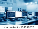 modern plant control room and...   Shutterstock . vector #154593596