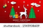 merry christmas happy new year... | Shutterstock .eps vector #1545938609
