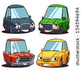cartoon car characters set | Shutterstock .eps vector #154594694