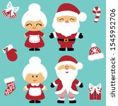 Christmas Icons. Santa Claus...