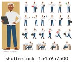 set of businessman character... | Shutterstock .eps vector #1545957500