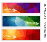 abstract banners collection  ... | Shutterstock .eps vector #154596770