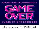 game over alphabet font.... | Shutterstock .eps vector #1546033493