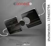 modern puzzle template. vector... | Shutterstock .eps vector #154603754