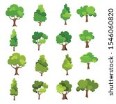 variety of hand drawn deciduous ...   Shutterstock .eps vector #1546060820