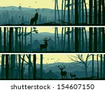 abstract,animals,backdrop,background,banners,bird,bookmark,card,cartoon,cedar,deciduous,deer,doe,dusk,elk