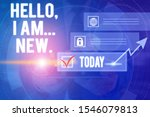 text sign showing hello i am... | Shutterstock . vector #1546079813