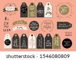 set of merry christmas and... | Shutterstock .eps vector #1546080809