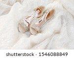 Wedding Shoes And Wedding Dress....