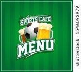 sports cafe menu cover design ...   Shutterstock . vector #1546093979