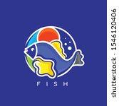 fish logo design modern concept   Shutterstock .eps vector #1546120406