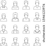 avatars  users vector icons and ... | Shutterstock .eps vector #1546123976
