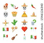 mexican icon set pack  high... | Shutterstock .eps vector #1546126340
