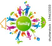 vector illustration of family... | Shutterstock .eps vector #154613333