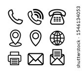 simple line business icons set...