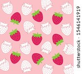 cute red strawberry and white... | Shutterstock .eps vector #1546141919