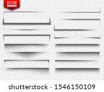 vector shadows set. page...   Shutterstock .eps vector #1546150109