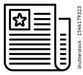 celebrity paper icon. outline... | Shutterstock .eps vector #1546179323