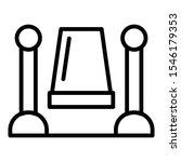 celebrity carpet icon. outline... | Shutterstock .eps vector #1546179353